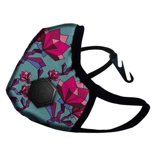 Maska Dragon Casual II antysmogowa - Kolor: Floral Pink, Rozmiar: S