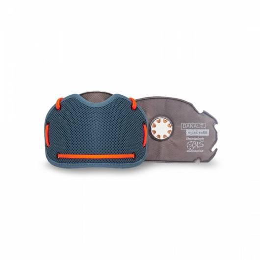 maska Banale Mask blue orange1  antysmogowa