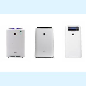 Porównanie oczyszczaczy powietrza Sharp KC-A, KC-D i KC-G