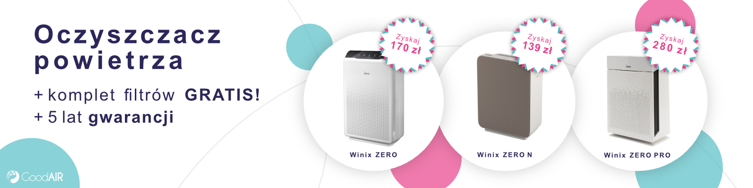 Winix zestaw filtrów gratis