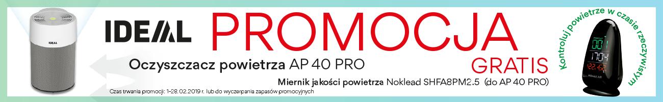 Oczyszczacz powietrza IDEAL AP 40 PRO + Miernik jakości powietrza Noklead A8