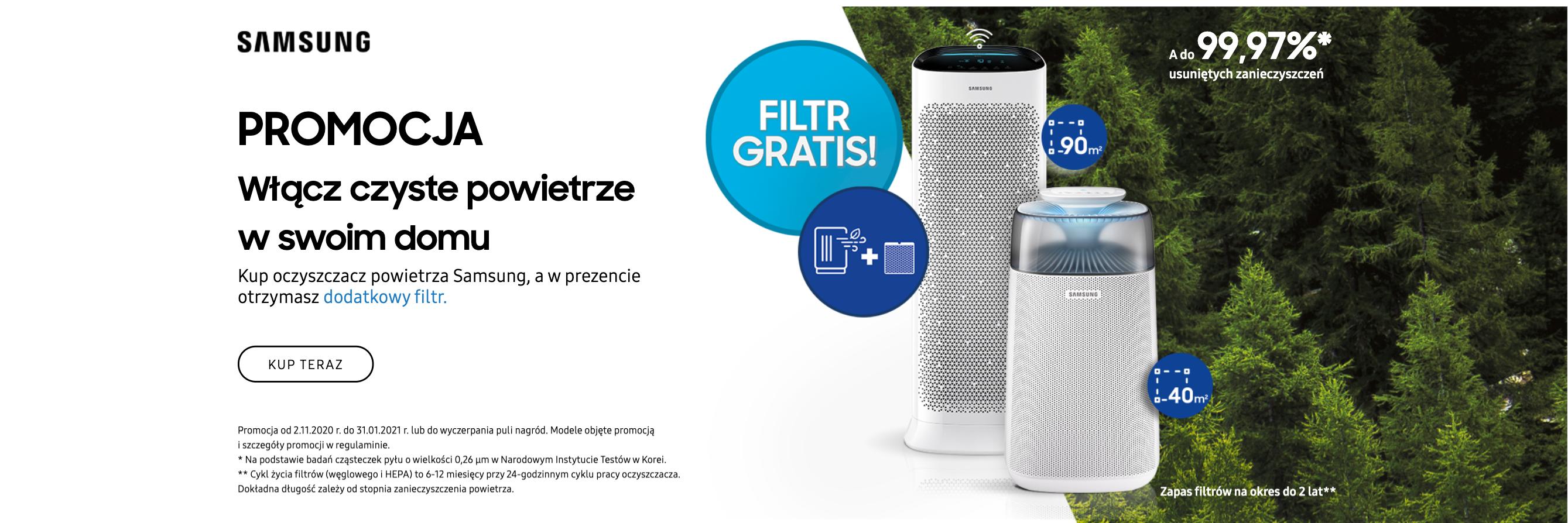 Samsung filtr gratis
