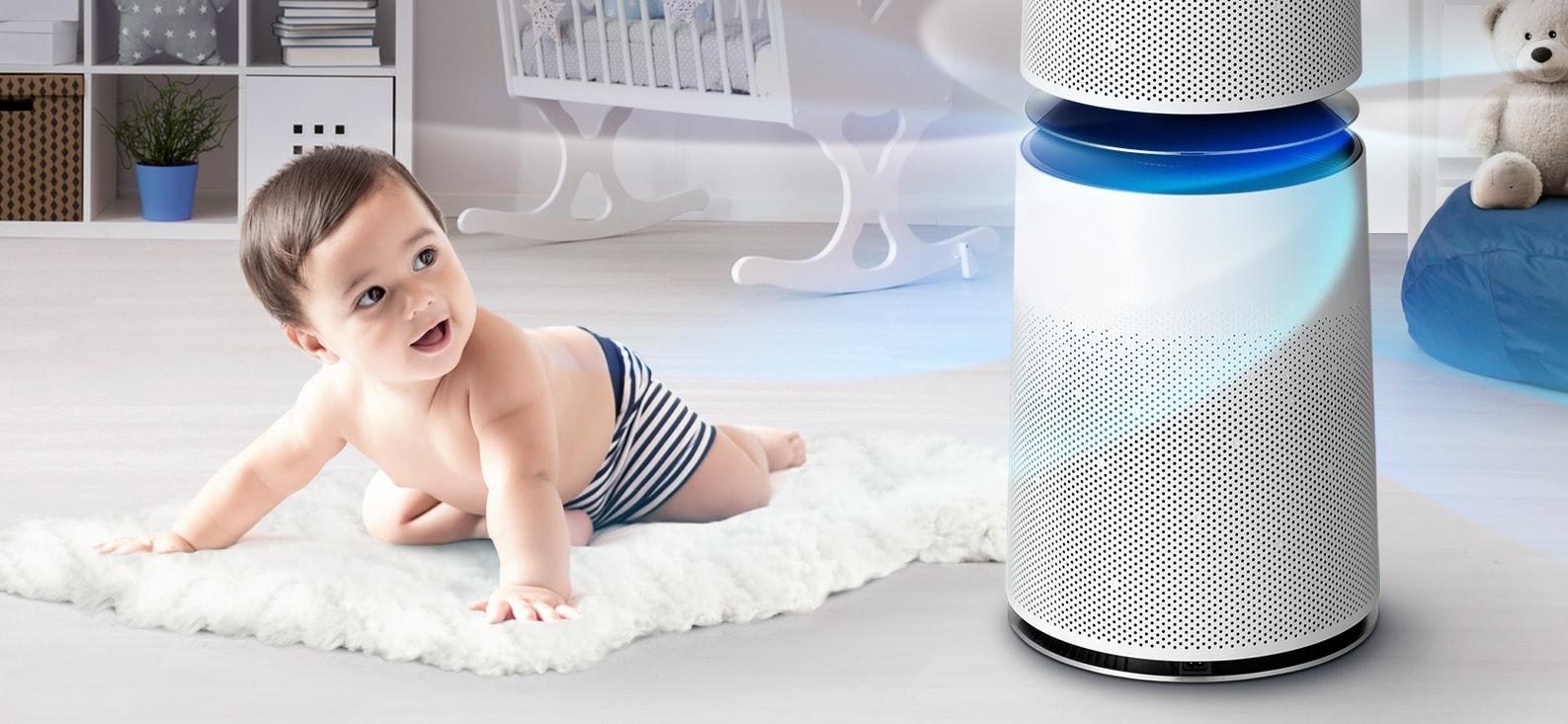 Oczyszczacz powietrza LG AS95GDWV0 filtracja powietrza opcje dodatkowe