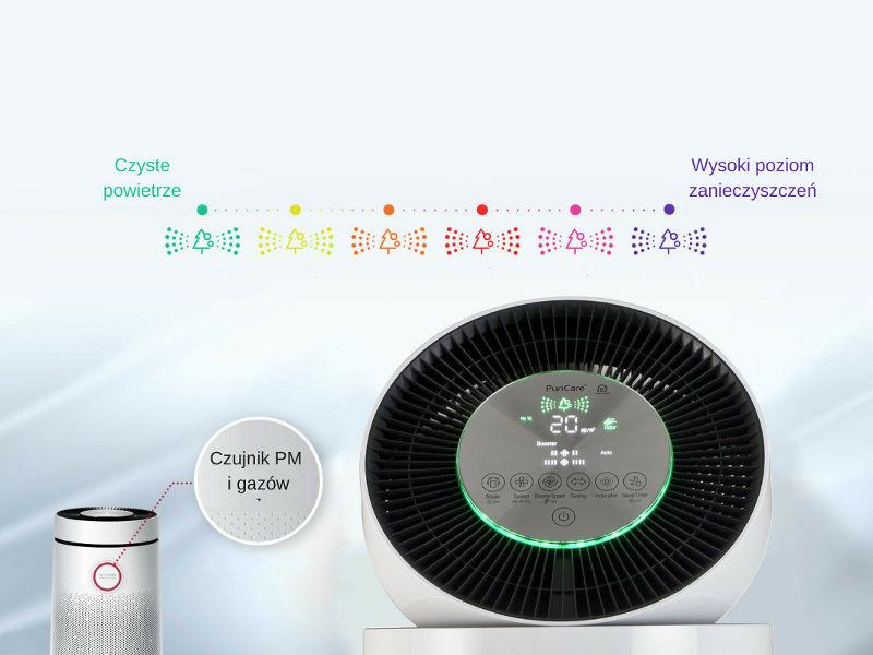 Oczyszczacz powietrza LG AS95GDWV0 filtracja powietrza czujniki