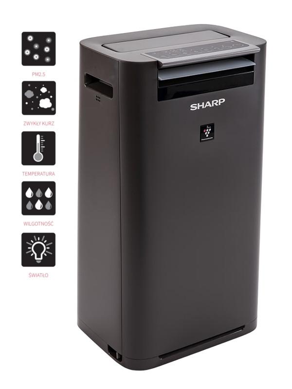 Sharp KC-G40EUH oczyszczacz i nawilżacza - nowoczesny design