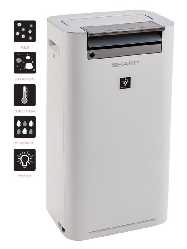 Sharp KC-G40EUW oczyszczacz i nawilżacz - nowoczesny design