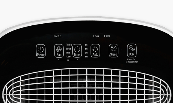 Oczyszczacz Toshiba CAF-X50XPL panel sterowania