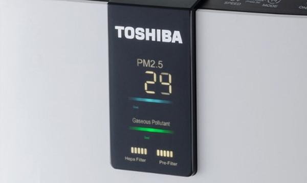 Oczyszczacz Toshiba CEF-X116XPL wyświetlacz