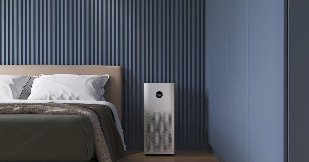 Oczyszczacz powietrza Xiaomi Mi Air Purifier 3C w sypialni