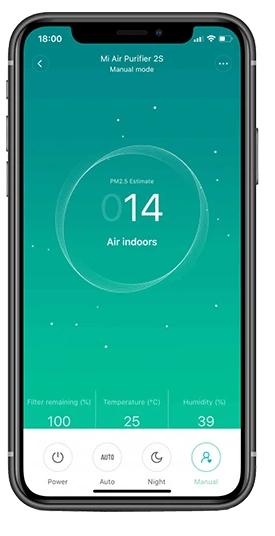 Oczyszczacze powietrza Xiaomi - aplikacja