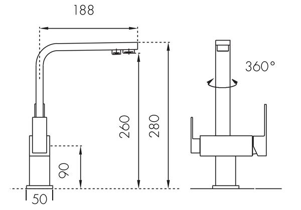 Bateria trójdrożna Cardo Inox