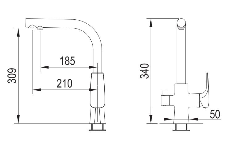 Bateria trójdrożna Tivoli (grafit Gun Metal)