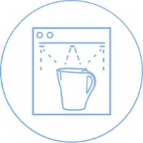 Brita Aluna XL (biały) dzbanek filtrujący - zmywarka