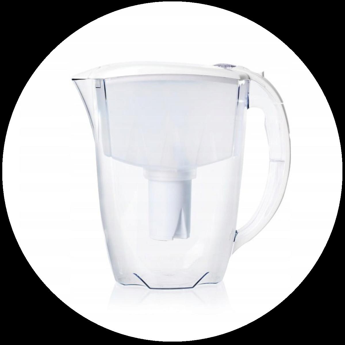 Aquaphor Ideal (biały) dzbanek filtrujący - kształt