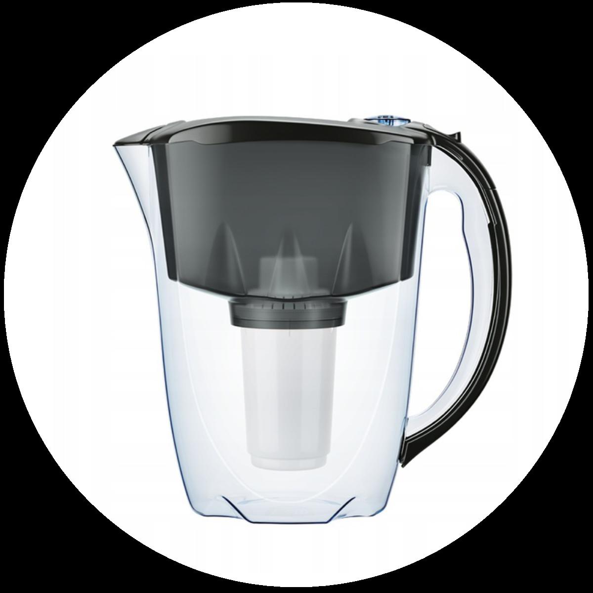 Aquaphor Prestige (czarny) dzbanek filtrujący - konstrukcja