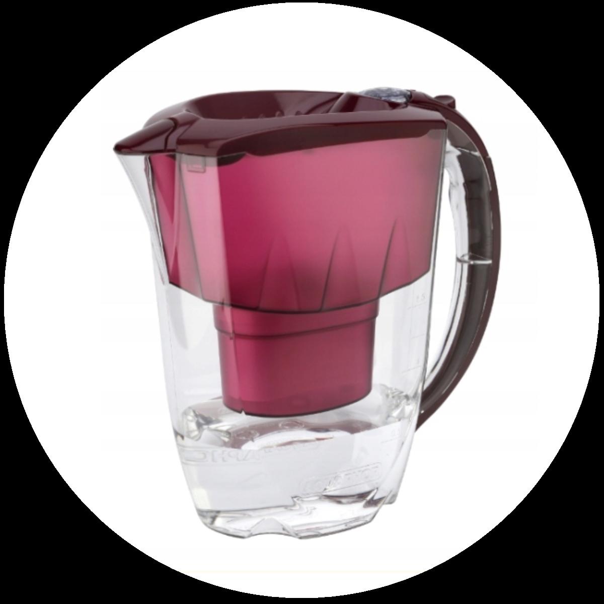 Aquaphor Amethyst (wiśniowy) dzbanek filtrujący - konstrukcja