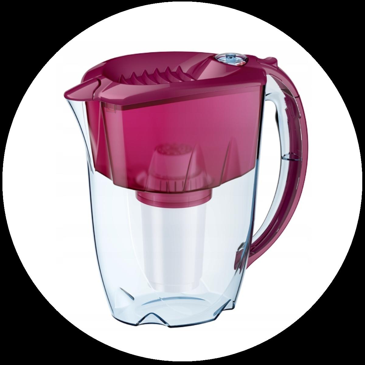 Aquaphor Prestige (wiśniowy) dzbanek filtrujący - konstrukcja