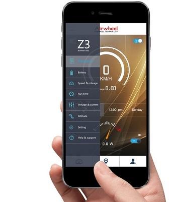 Aplikacja mobilna - hulajnoga elektryczna Airwheel Z3