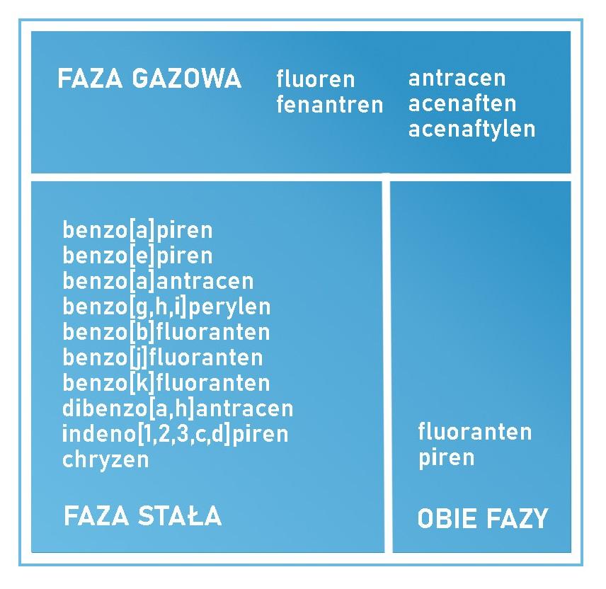 Oczyszczacz powietrza a WWA - stany skupienia WWA