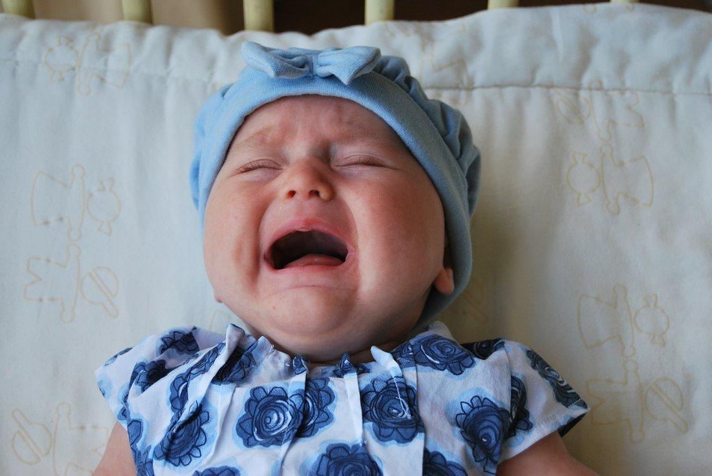 Oczyszczacz powietrza do przedszkola - płaczące dziecko