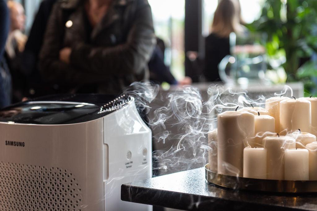 Oczyszczacze powietrza Samsung - czujniki jakości powietrza