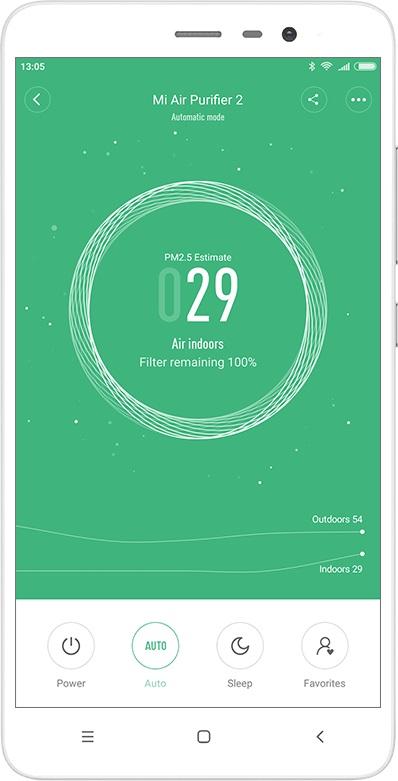 Oczyszczacz Sharp vs Xiaomi - aplikacja mobilna