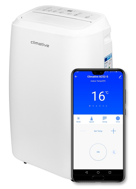Climative AC52-S aplikacja mobilna