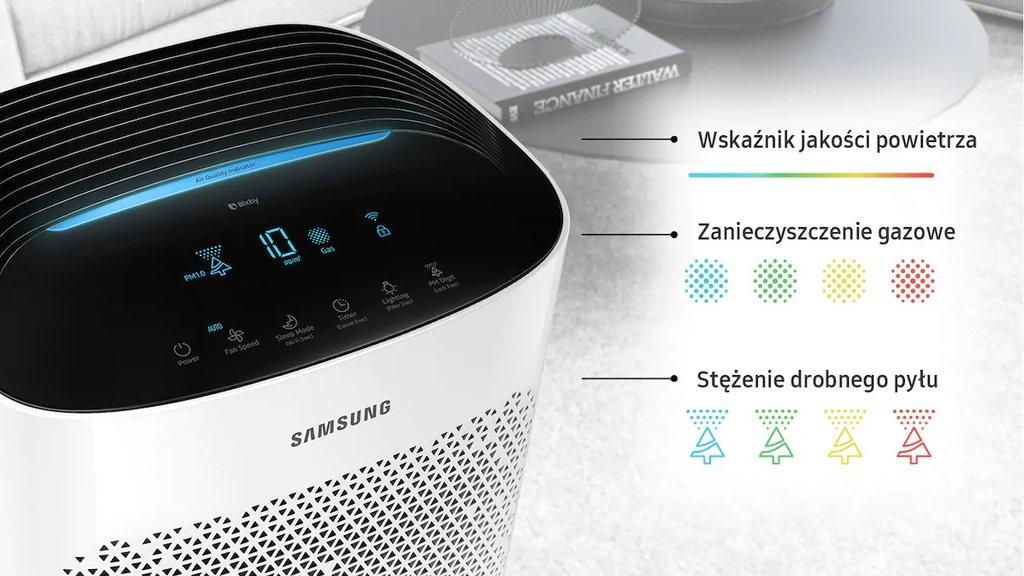 Inteligentny wyświetlacz - oczyszczacz powietrza Samsung